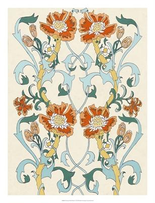 Nouveau Floral Pattern I