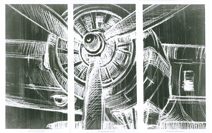 Graphic Propeller Triptych