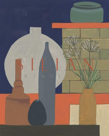 Vases on a Shelf IV