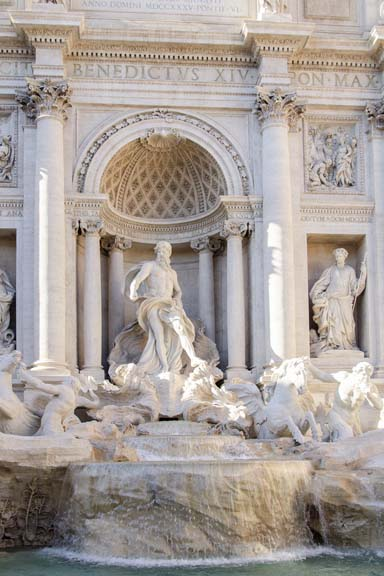 Trevi Fountain in Afternoon Light I