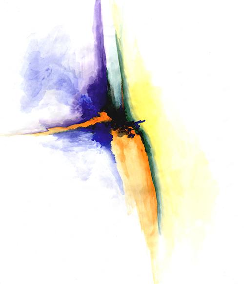Watercolor of Dance V