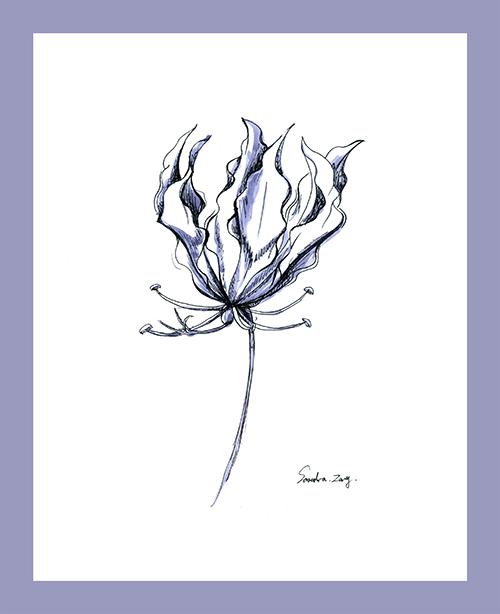 Sketch of flowers Ⅲ