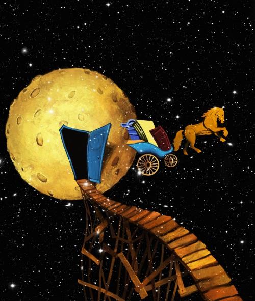 Running Towards The Moon