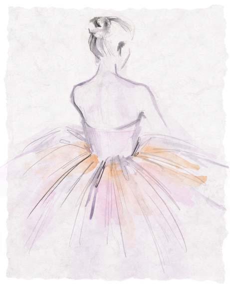 Watercolor Ballerina II
