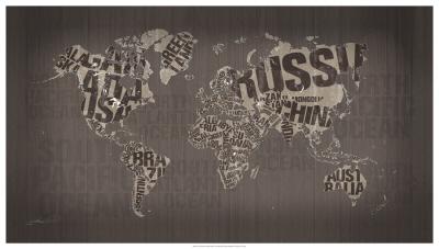 Old Fashion World Map