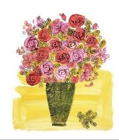 (Stamped) Basket of Flowers, 1958