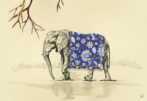 Leisurely elephant