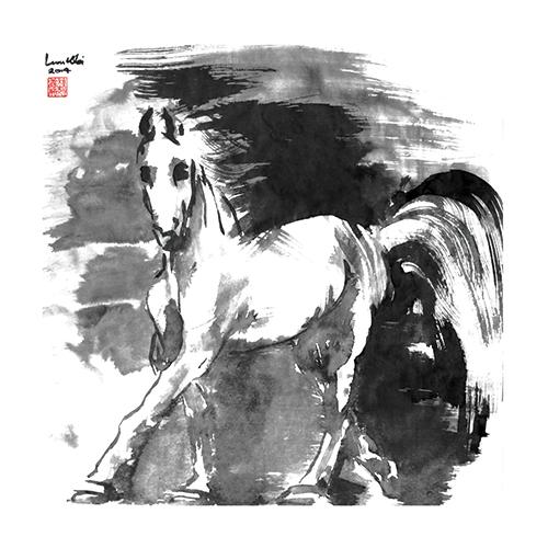 B&W Horses VI