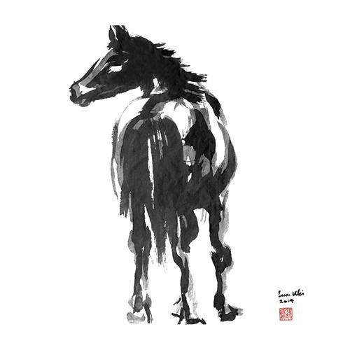 B&W Horses IV