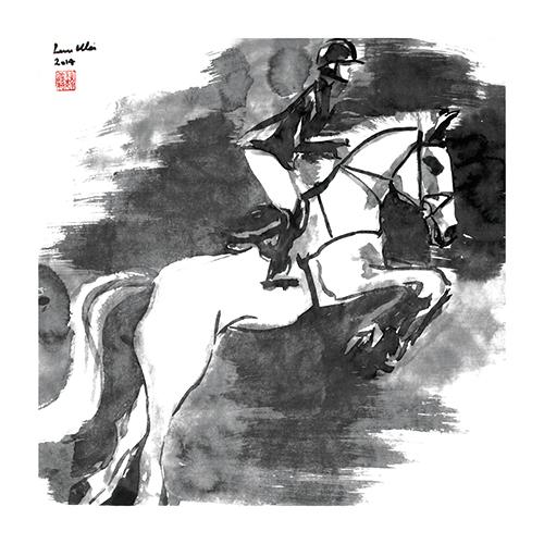 B&W Horses I