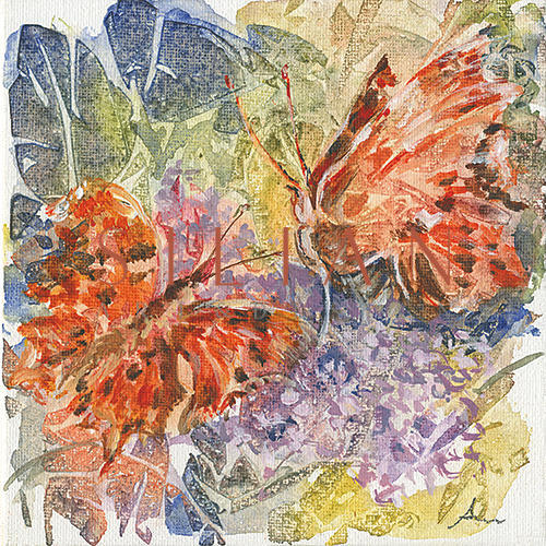 The Butterfly and the Leaves II