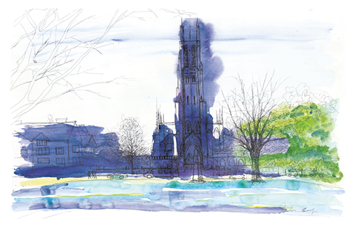 Building Watercolor Painting VII