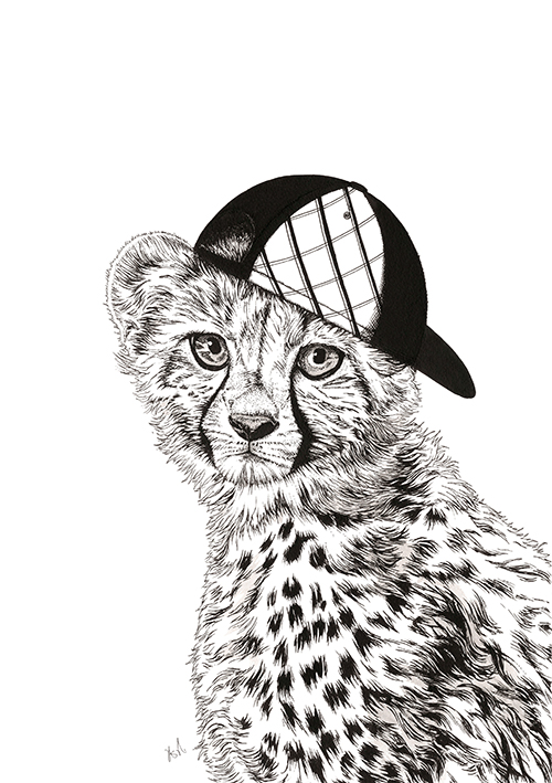 A Leopard With A Cap