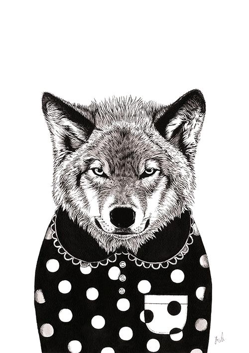 A Wolf Dress in Black