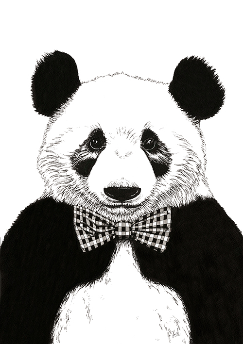 A Panda With A Tie