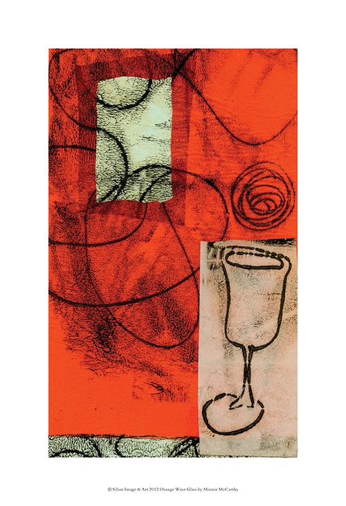 Orange Wine Glass