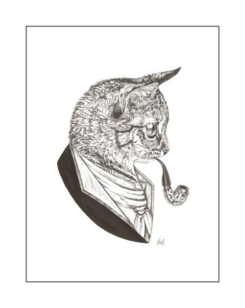 B & W Animal portrait IV