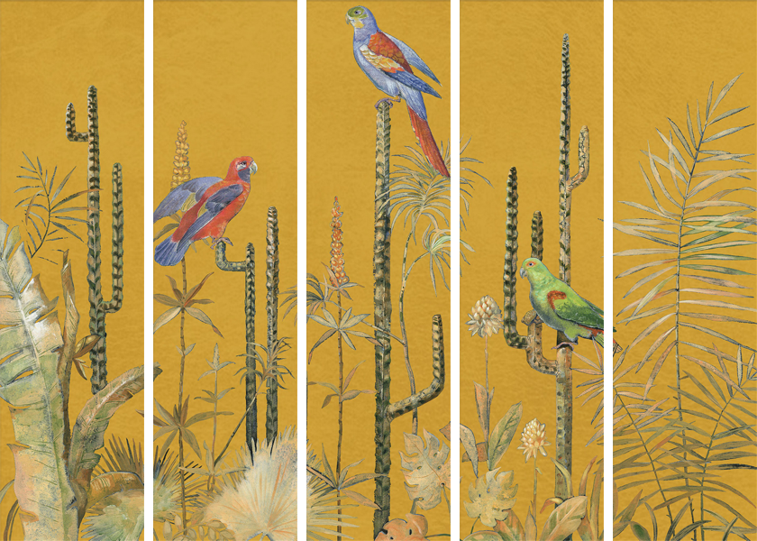 Gold Foil Chinoiserie